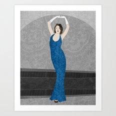 Marvelle, a fashion illustration Art Print