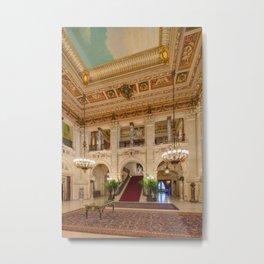 Newport Mansions, Rhode Island - The Breakers Grand Hall by Jeanpaul Ferro Metal Print