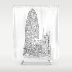 The Gherkin Shower Curtain