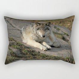 Timber Wolf Rectangular Pillow