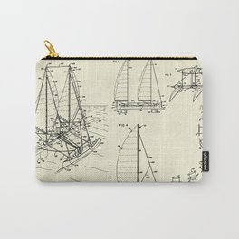 Outrigger Sailboat-1977 Carry-All Pouch