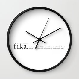 Fika definition Wall Clock