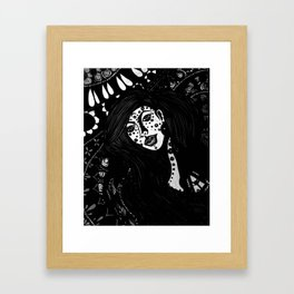 The Spiritual Catalyst B & W Framed Art Print