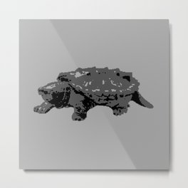 Turtle in the Mist Metal Print
