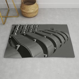 London building abstract art Rug