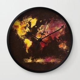 world map 63 Wall Clock