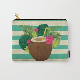 Mai Tai Mahalo - Kitschy Hawaiian Cocktail in a Coconut Shell Carry-All Pouch