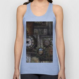 Steampunk, wonderful clockwork with gears Unisex Tank Top