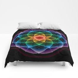 Sacred Rainbow Mandala Comforters