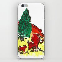 Big moo, wee moo (colored version) iPhone & iPod Skin