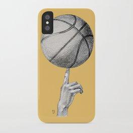 Basketball spin orange iPhone Case