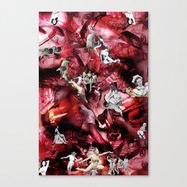 Scarlet Ocean Tempest Canvas Print