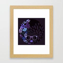 Afro Diva : Sophisticated Lady Purple Lavender Framed Art Print