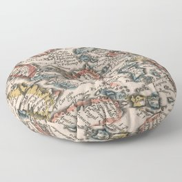 Vintage Map of Indonesia and The Philippines (1659) Floor Pillow