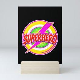 Superhero - Hero with Cape Savior Saviour Model Mini Art Print