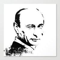 putin Canvas Prints featuring Putin by Valentina