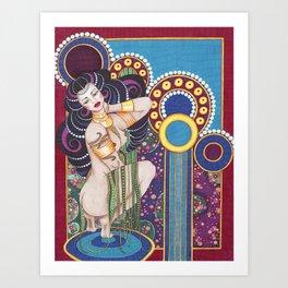 African Klimt Art Print