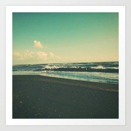 Dark Sand Beach Art Print