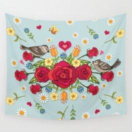 English Roses Wall Tapestry