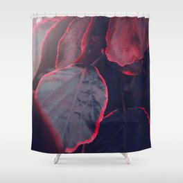 Sensual Red & Dark Purple Leaves Abstract Photography Patterns In Nature Shower Curtain