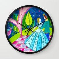 cinderella Wall Clocks featuring Cinderella by Sandra Nascimento