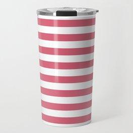 Large Nantucket Red Horizontal Sailor StripesLarge Nantucket Red Horizontal Sailor Stripes Travel Mug