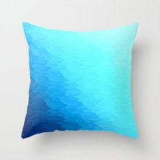 Turquoise Blue Texture Ombre Throw Pillow