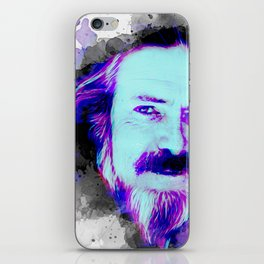 Alan Watts portrait iPhone Skin