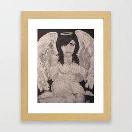 Sitting Angel Framed Art Print