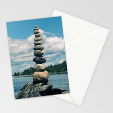 Leaning Tower of Pebbles Stationery Cards