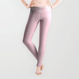 Floral Frame Pink Leggings