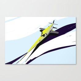 Supersonic Plane Canvas Print