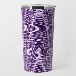 Purple and White Vibrations Travel Mug