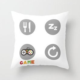 Shirt For Game Lover. Funny Gift For Son/Stepson Throw Pillow