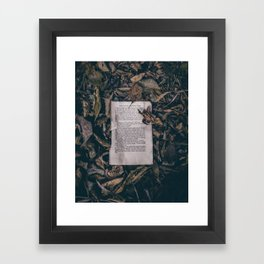 Lost Knowledge Framed Art Print