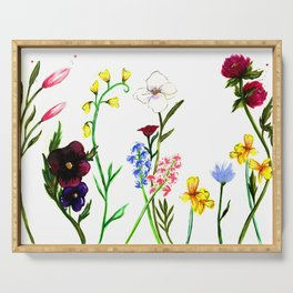Wildflowers Serving Tray