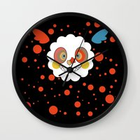 madoka Wall Clocks featuring Charlotte - Madoka Magica by gallery pieces