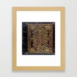 Gilded Leather Tome Framed Art Print