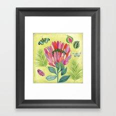 Protea Tropicana Framed Art Print