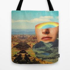 Rainbow Head Tote Bag