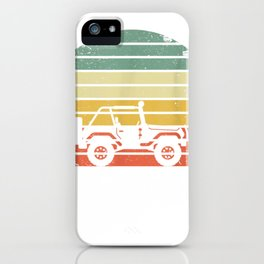 Vintage Jeeps Shirt Retro 70s Off Road Sunset TShirt Tee iPhone Case