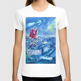 View of Paris by Marc Chagall T-shirt