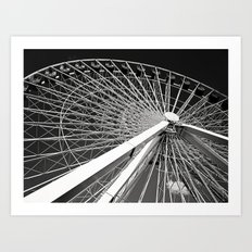 Navy Pier's Ferris Wheel Art Print