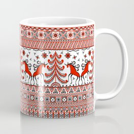 Russian folk ornament. Mezen painting. Coffee Mug