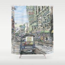 One day in Bangkok Shower Curtain