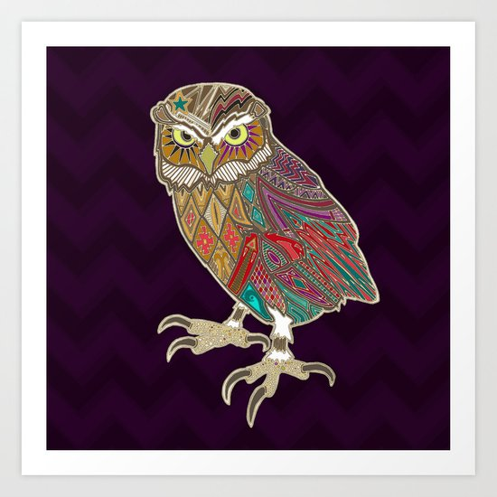 little brother owl Art Print