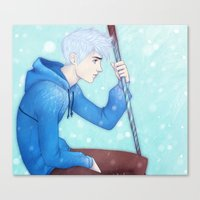 jack frost Canvas Prints featuring Jack Frost by ribkaDory