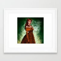 belle Framed Art Prints featuring Belle by Anja-Catharina
