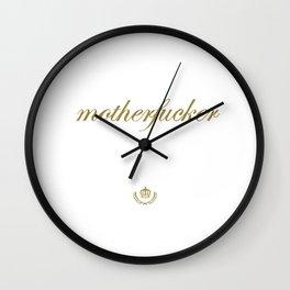 motherfucker Wall Clock
