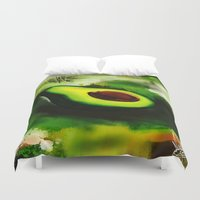 avocado Duvet Covers featuring Avocado by Marven RELOADED